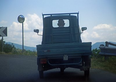 Ape Truck in Tuscany on the way up to Cortona Italy - workshop photo by Robin Davis