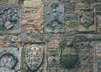 Coat of Arms Wall Cortona Italy by Dorohty O'Beirne
